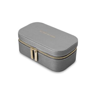 Katie Loxton Metallic Charcoal Travel Jewellery Box