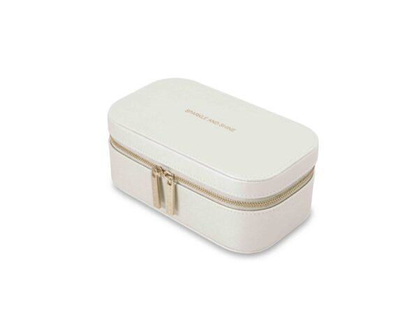 Katie Loxton Metallic White Travel Jewellery Box