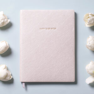 Katie Loxton Wedding Notebook Metallic White Happy Ever After