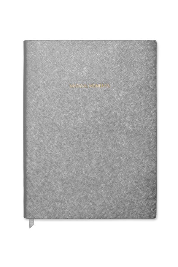 Katie Loxton Notebook Metallic Charcoal Magical Moments