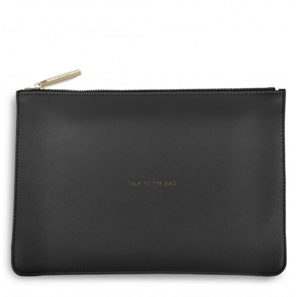Katie Loxton Perfect Pouch Charcoal Talk to the Bag