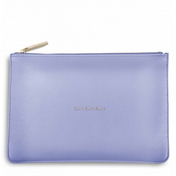 Katie Loxton Perfect Pouch Cornflower Blue Blah Blah Blah