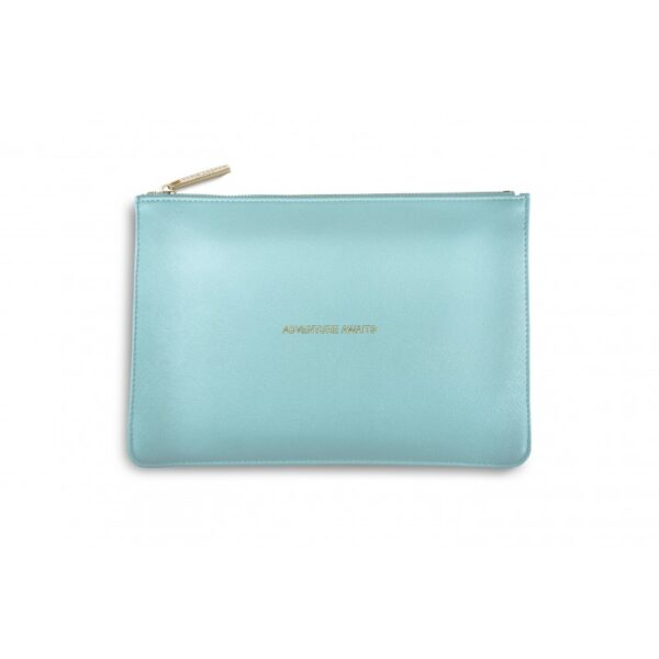 Katie Loxton Perfect Pouch Metallic Aqua Adventure Awaits