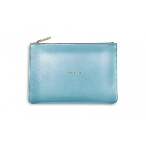Katie Loxton Perfect Pouch Metallic Blue Time to Shine