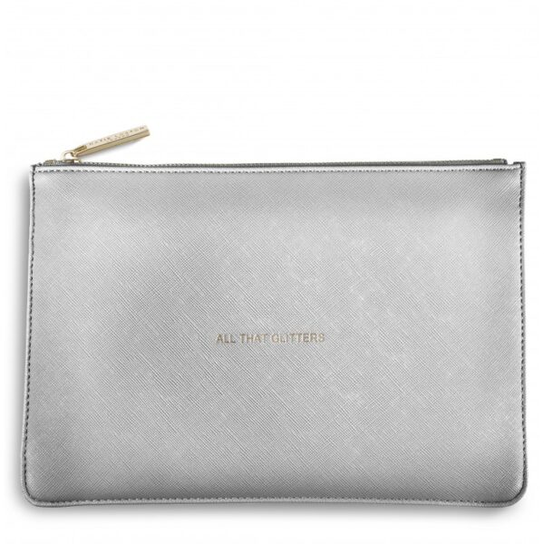 Katie Loxton Perfect Pouch Metallic Silver All That Glitters