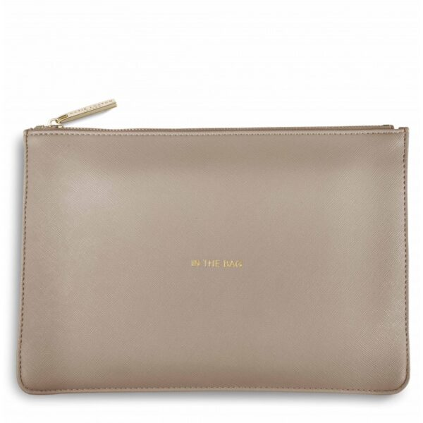 Katie Loxton Perfect Pouch Oyster Grey In the Bag