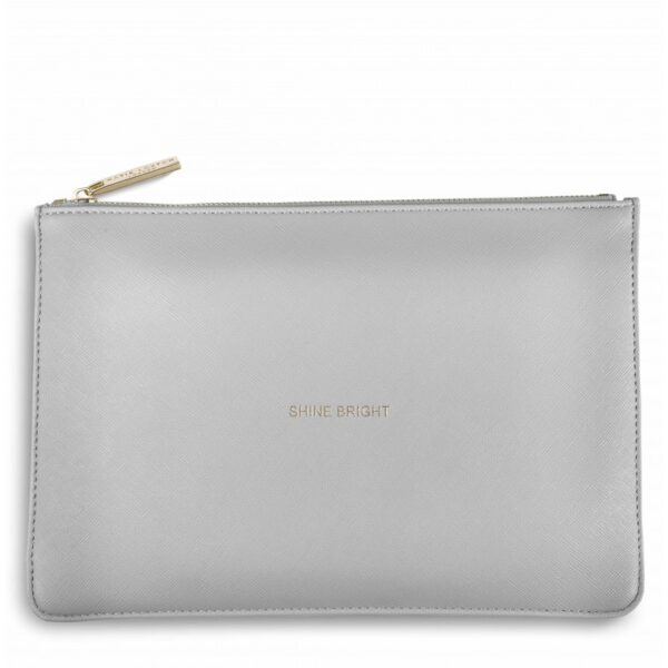 Katie Loxton Perfect Pouch Pale Grey Shine Bright