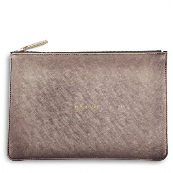 Katie Loxton Perfect Pouch Rose Gold Be Brilliant