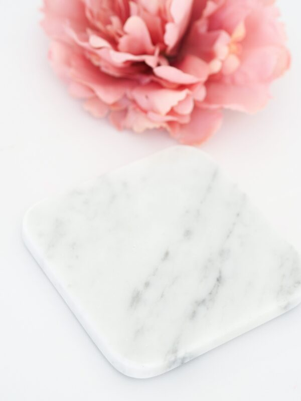 Blonde and Stone Real Marble Coaster