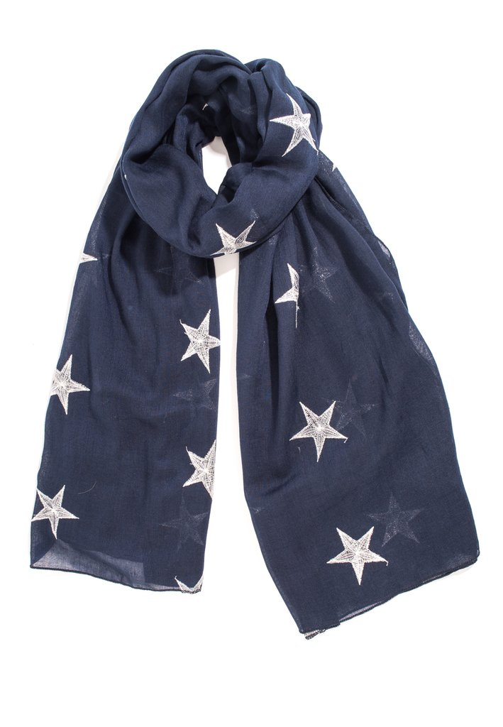 7443ff9d37a Embroidered Scarf - Various Colours Available