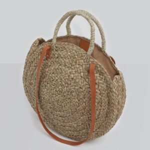 Betsy and Floss Corfu Circular Straw Bag