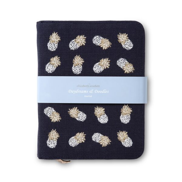 Elizabeth Scarlett Ananas Indigo Journal - deep navy