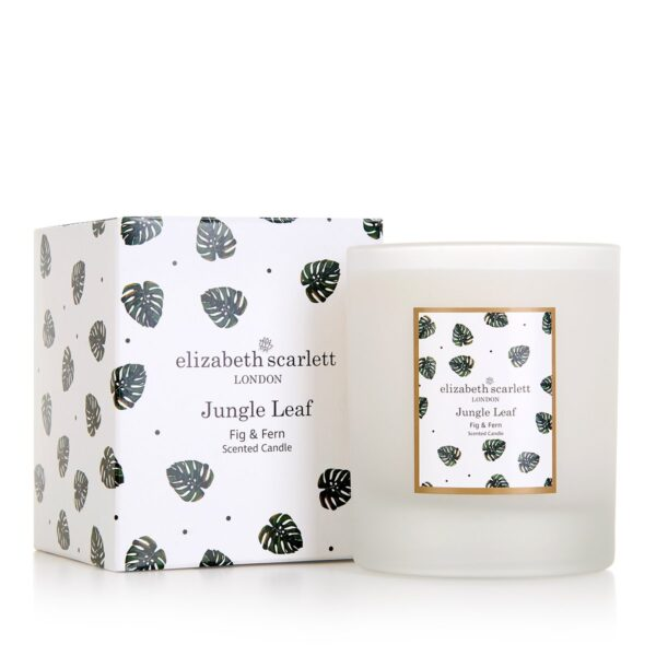 Elizabeth Scarlett Jungle Leaf Candle with Box