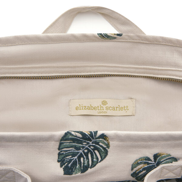 El;izabeth Scarlett Jungle Leaf Travel Bag Detail