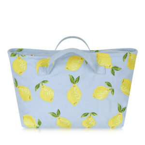 Elizabeth Scarlett Lemon Chambray Travel Bag