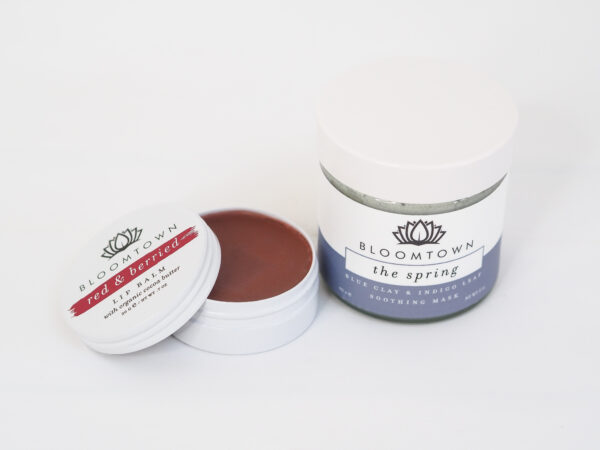 Bloomtown Lip Balm and Blue Clay Mask