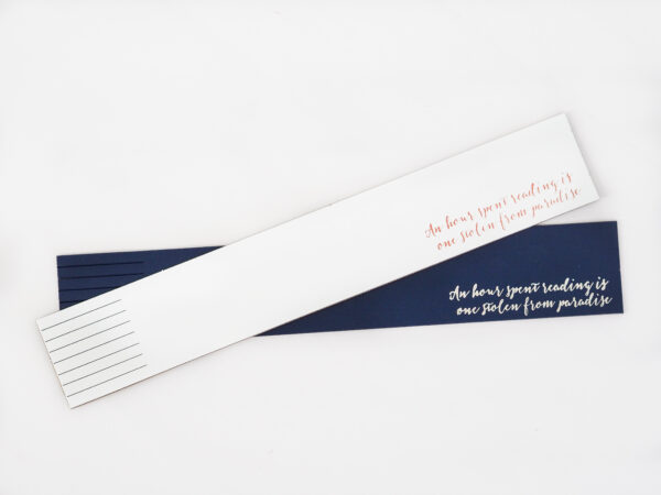 Night Navy Leather Bookmarks