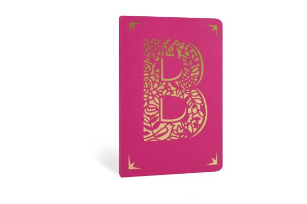 B Monogram Foil A6 Notebook by Portico Designs