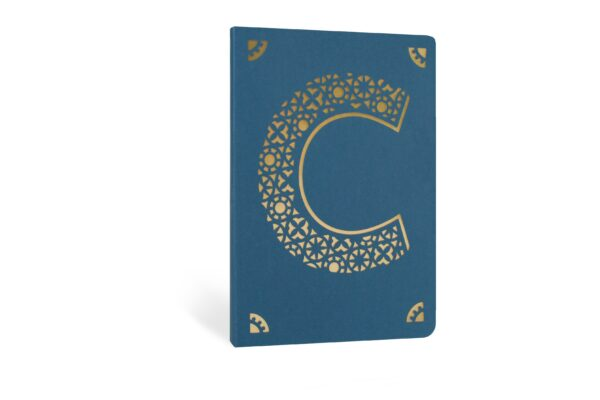 C Monogram Foil A6 Notebook by Portico Designs