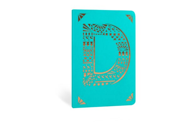 D Monogram Foil A6 Notebook by Portico Designs