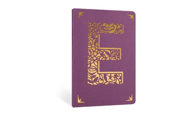 E Monogram Foil A6 Notebook by Portico Designs