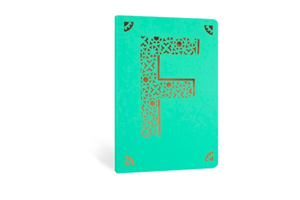 F Monogram Foil A6 Notebook by Portico Designs