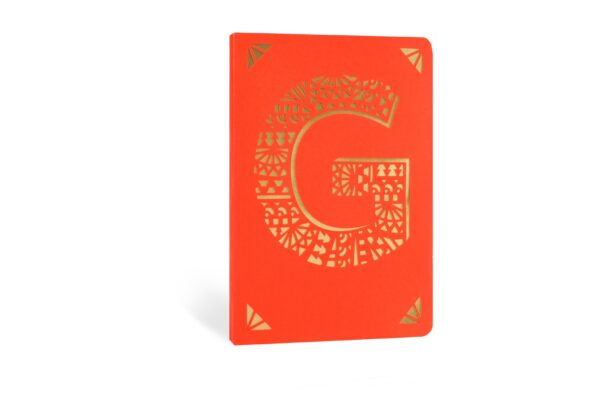 G Monogram Foil A6 Notebook by Portico Designs