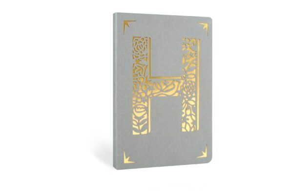 H Monogram Foil A6 Notebook by Portico Designs