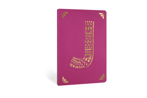 J Monogram Foil A6 Notebook by Portico Designs
