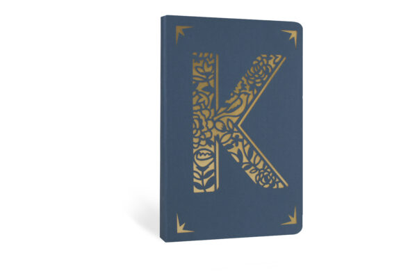 K Monogram Foil A6 Notebook by Portico Designs