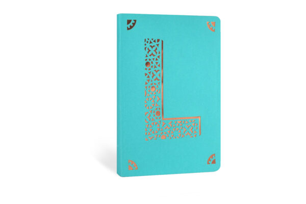 L Monogram Foil A6 Notebook by Portico Designs