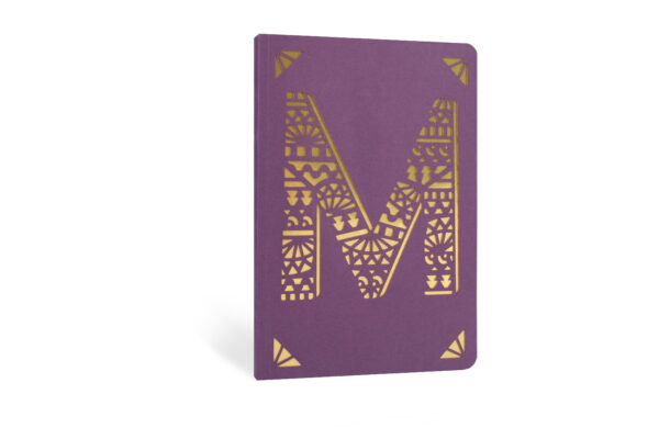 M Monogram Foil A6 Notebook by Portico Designs