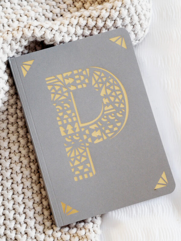 P Monogram Foil A6 Notebook by Portico Designs