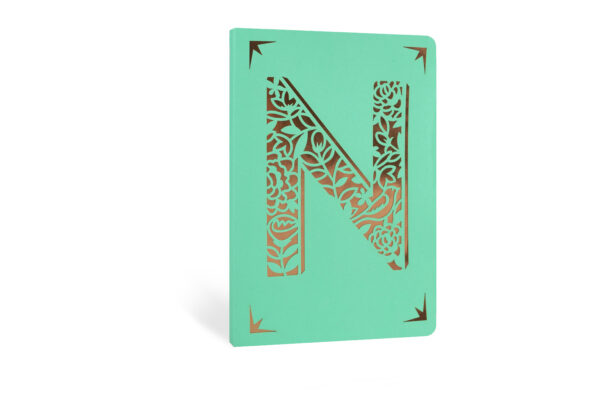 N Monogram Foil A6 Notebook by Portico Designs
