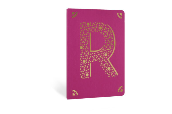 R Monogram Foil A6 Notebook by Portico Designs