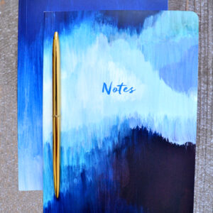 Set of 2 Blue Abstract Notebooks by Portico Designs