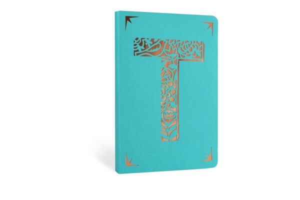 T Monogram Foil A6 Notebook by Portico Designs