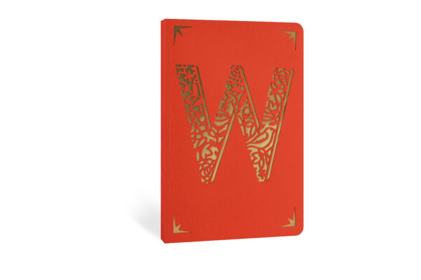W Monogram Foil A6 Notebook by Portico Designs