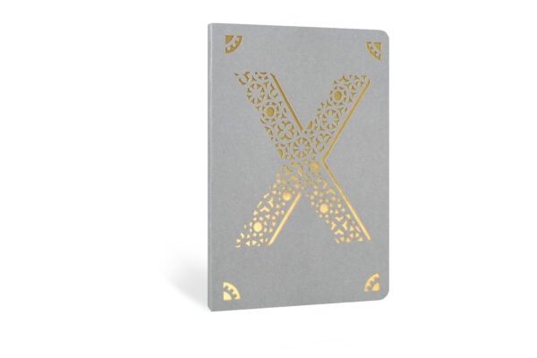 X Monogram Foil A6 Notebook by Portico Designs