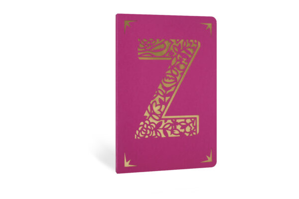 Z Monogram Foil A6 Notebook by Portico Designs
