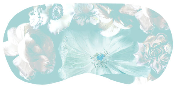 StephieAnn Silk Eye Mask - Pastel Turquoise