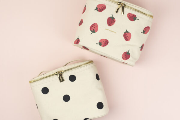 Kate Spade Lunch Tote Strawberries Deco Dots