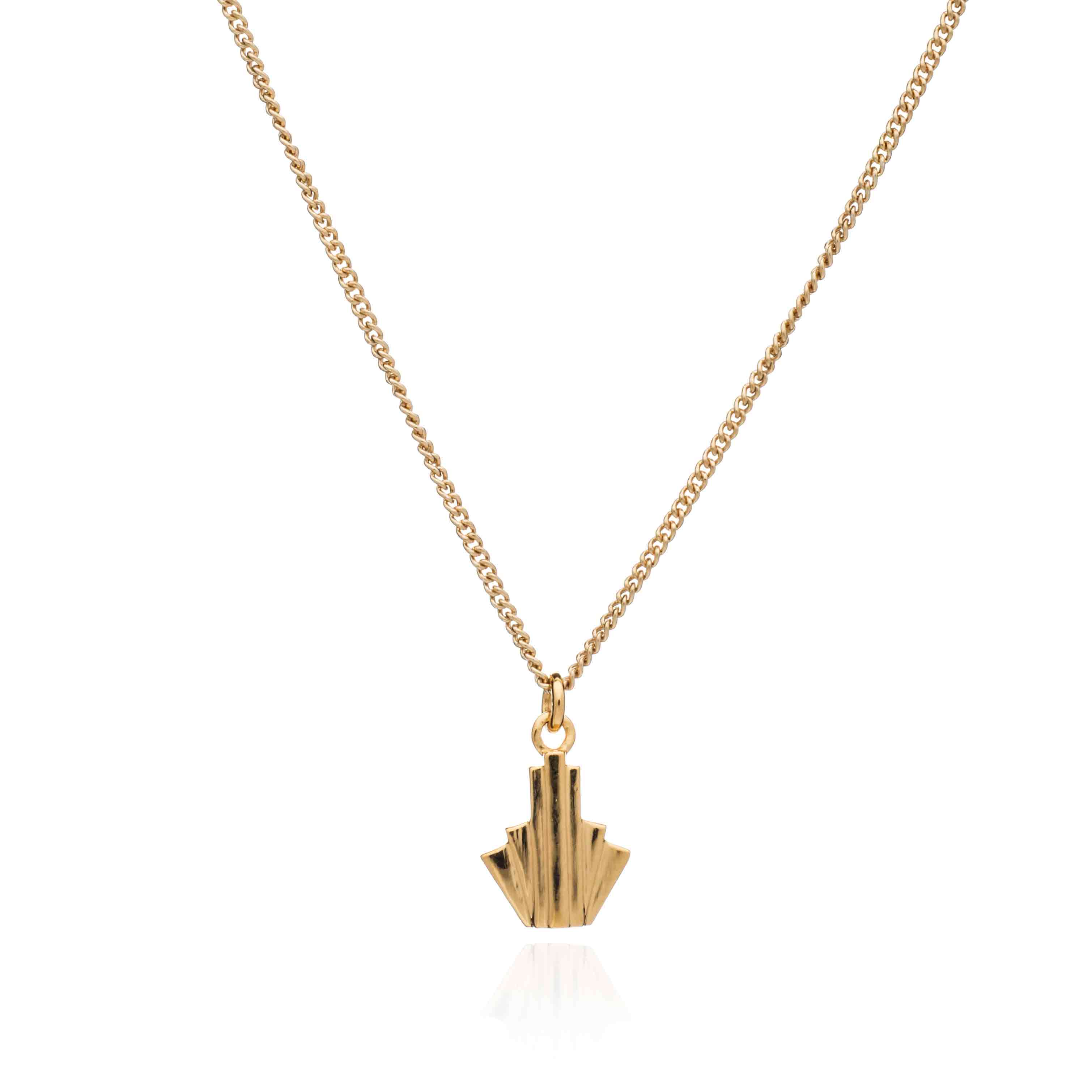 Rachel Jackson London Game Face Necklace In Gold