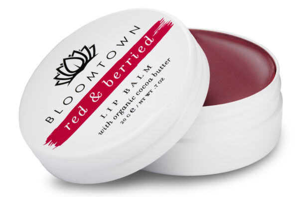 Bloomtown Natural and Vegan Lip Balm Red and Berried