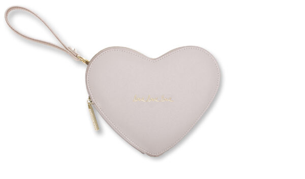 Katie Loxton Love Heart Pouch Natural