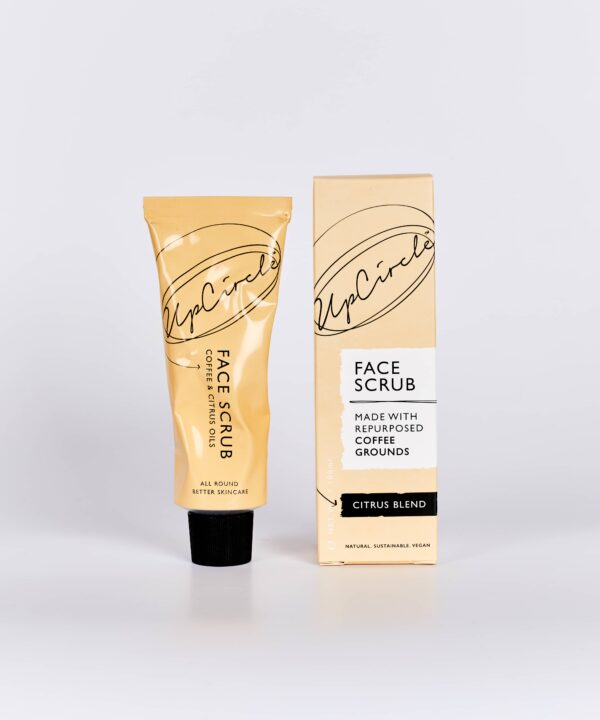 UpCircle Beauty Coffee Face Scrub in Citrus Formulation for Normal and Dry Skin