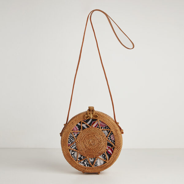 Betsy and Floss Sicily Round Basket Bag with Batik Lining