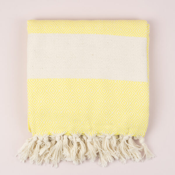 Moi-Meme Yellow Organic Cotton Hammam Towel