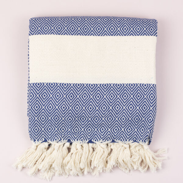 Moi-Meme Navy Organic Cotton Hammam Towel