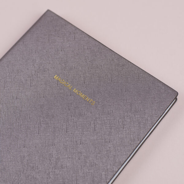 Katie Loxton Magical Moments Metallic Charcoal Notebook